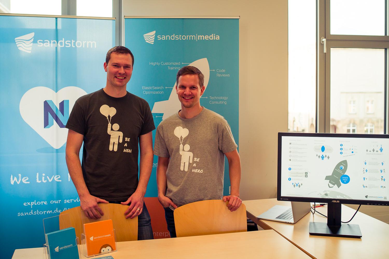 Fabian und Tobias beim Hochschultag 2018 der BA Dresden