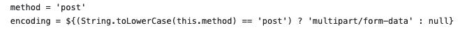 Neos.Fusion.Form-Ausschnitt, welcher zeigt, wie das encoding (enctype) gesetzt werden können soll