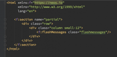 Namespace warnings in Fluid templates removed