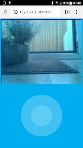 Screenshot Controller mit Kamerabild