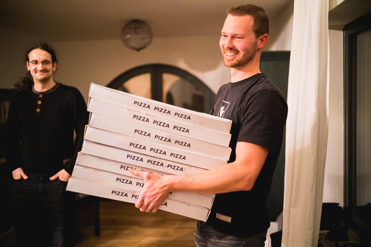 Pizza zum Pitch?